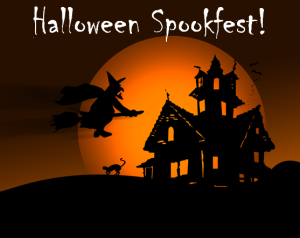 Kids of all ages, join us for our Halloween Spookfest on October 30th from 4-6pm for crafts, games, spooky stories and a haunted house!